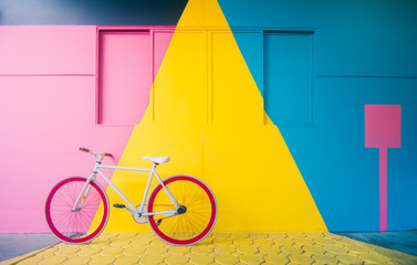 Printed roller blinds Bicycle Bicycle with Pastel Background