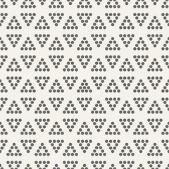 Dotted triangles pattern.