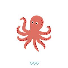 Vector illustration of octopus