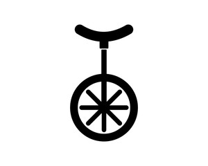 one wheel vehicle transportation transport image vector icon logo