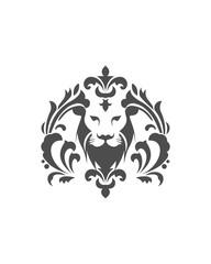 Lion Head, Luxury logo template