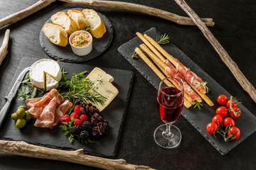 Foto op Canvas Assortiment オードブル Appetizer platter of liquor in Europe are