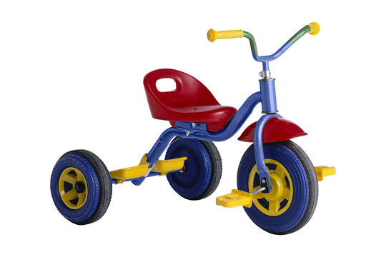 kids tricycle isolated on white background
