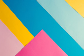Wall Mural - Colorful bright geometric background. Minimal fashion summer concept. Flat lay.