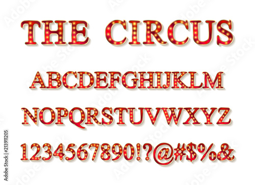 vector of vintage carnival font stock image and royalty free vector