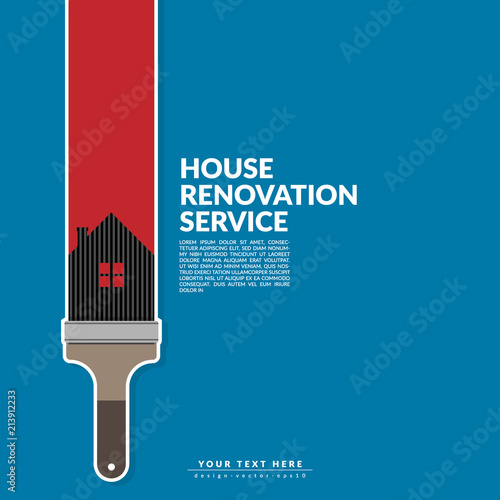 paint roller paint red color over house logo isolated on blue ... on creative home decor, creative home architecture, creative home upgrades, creative cabinets, creative decks, creative home storage, creative home furnishings, creative home framing, creative decorating, creative home porches,