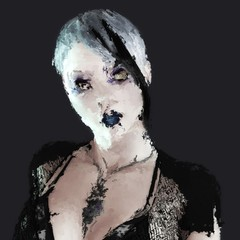 Digital Painting of a gothic Woman Portrait
