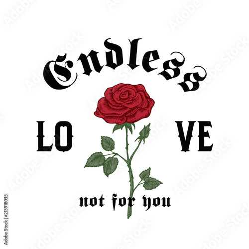 endless love not for you abstract vector apparel illustration hand