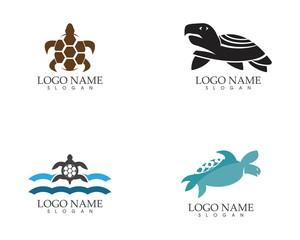Sea turtle icon logo vector illustration