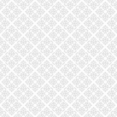 Floral pattern. Wallpaper seamless background. Grey and w
