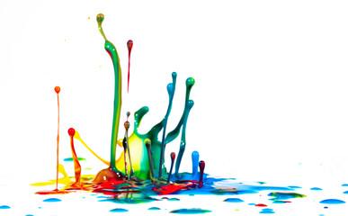 splash of color ink on white background Fototapete