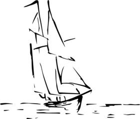 Schiff Silhouette