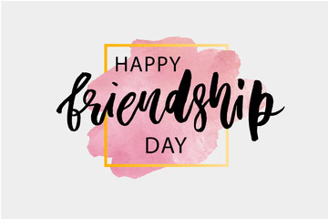 Happy Friendship Day Lettering Phrase Vector