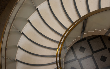 Art Deco style spiral staircase from above