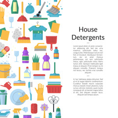 Vector cleaning flat icons background illustration