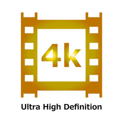 4k gold icon with Ultra high definition