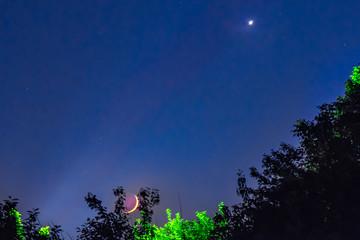 night landscape moon