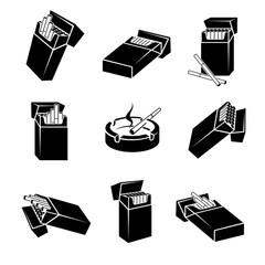 Cigarette packs set. Vector
