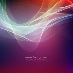 Abstract vector colorful wave bright background