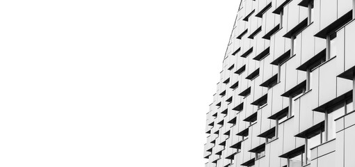 Abstract modern architecture over white