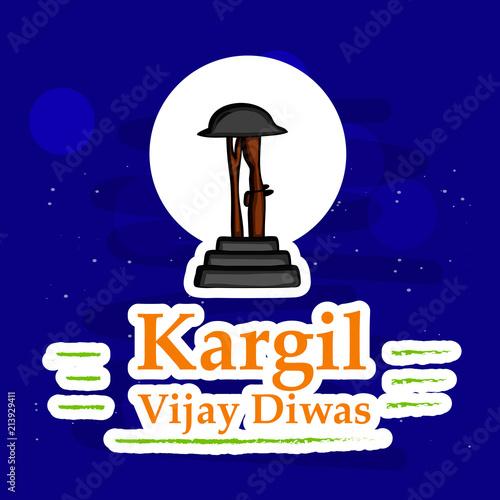 Illustration of Kargil Vijay Diwas Background  Kargil Vijay Diwas is