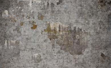Fotobehang Oude vuile getextureerde muur Old damaged concrete wall texture background