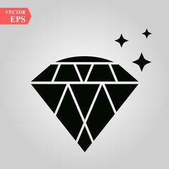 diamond icon, diamond icon on white background