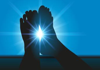 détente - pied - vacances - concept - symbole - relax - se détendre - pause - soleil - bronzer - été