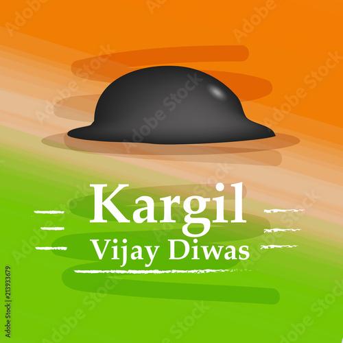 Illustration of Kargil Vijay Diwas background  Kargil Vijay