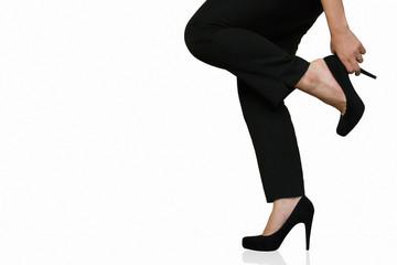 business donna elegante con tacchi