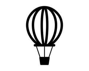 air balloon vehicle transportation transport image vector icon logo