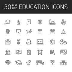 Line vector icon set education