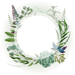 Wedding herbal frame