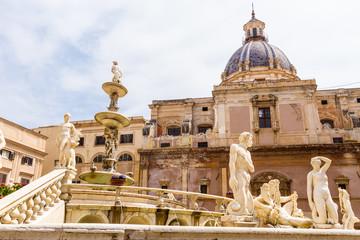 The Praetorian Fountain in Palermo, Italy