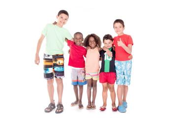 group of kids posing