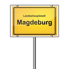 Ortsschild - Magdeburg