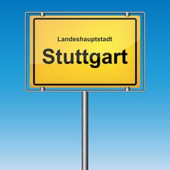 Ortsschild - Stuttgart