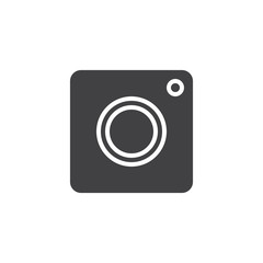 Photo Camera vector icon. filled flat sign for mobile concept and web design. App camera simple solid icon. Symbol, logo illustration. Pixel perfect vector graphics