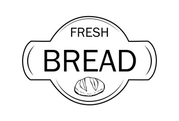 Signboard, logo or name for a baking shop with bread and sweets