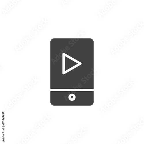 Mobile music player vector icon  filled flat sign for mobile concept