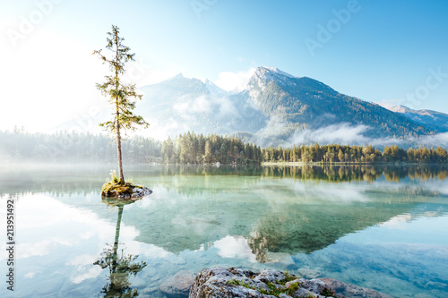 Wall mural Famous lake Hintersee one of the best places on earth.