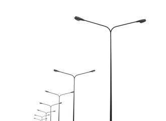 street lightting poles isolated on white Fotomurales
