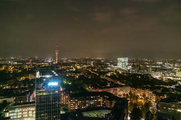 Scenic of hamburg night cityscape