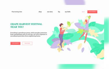 Grape harvest festival banner