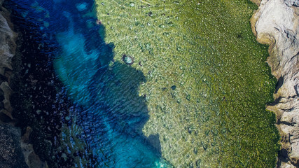 Angel's Billabong beach, the natural pool on island of Nusa Penida, Klingung regency, Bali, Indonesia