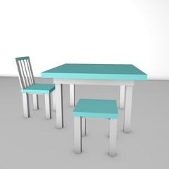 Стол, стул и табурет