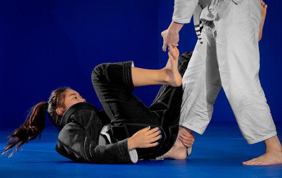 Brazilian Jiu-Jitsu Self-Defense Teen Girls Practice Session