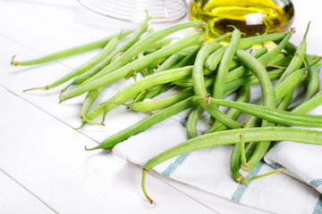 Green beans with extra virgin olive oil