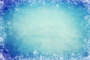 Blue Bokeh Frame Background for Slide Slow Presentations