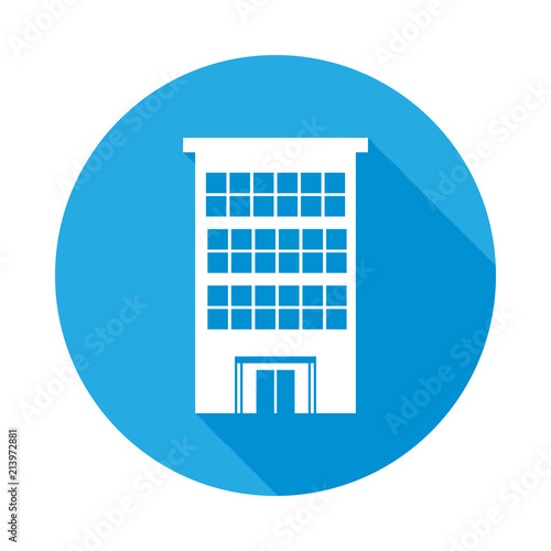 Office Building Flat Icon With Long Shadow Stock Image And Royalty